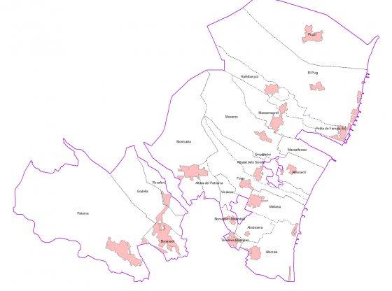 Mapa Comarcal de l'Horta Nord